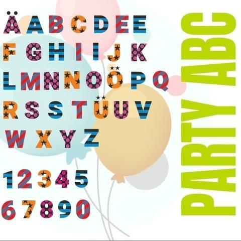 PARTY ABC mit A bis Z und 1 - 10 GEMISCHTE Buchstaben
