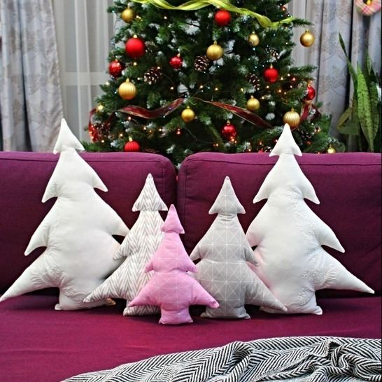 Christmas tree pillows sewing pattern at Makerist - Image 1