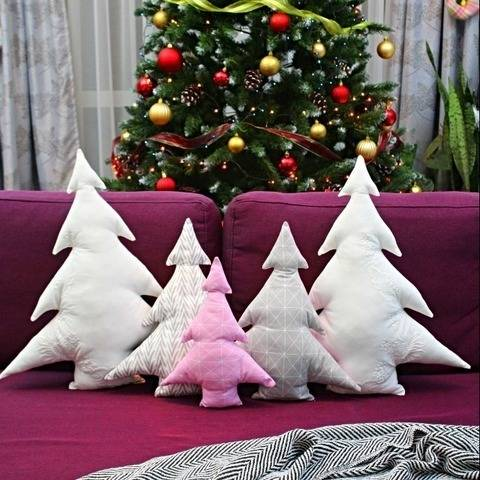 Christmas tree pillows sewing pattern