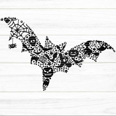 Fledermaus SVG DXF Plotterdatei