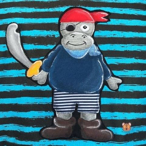 Applikation Hippo Nilpferd Pirat Leo