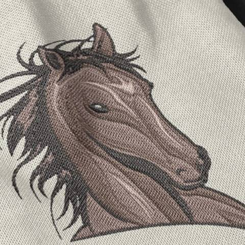 Beautiful Wild Horse Head - Embroidery Files - 4x4 inch