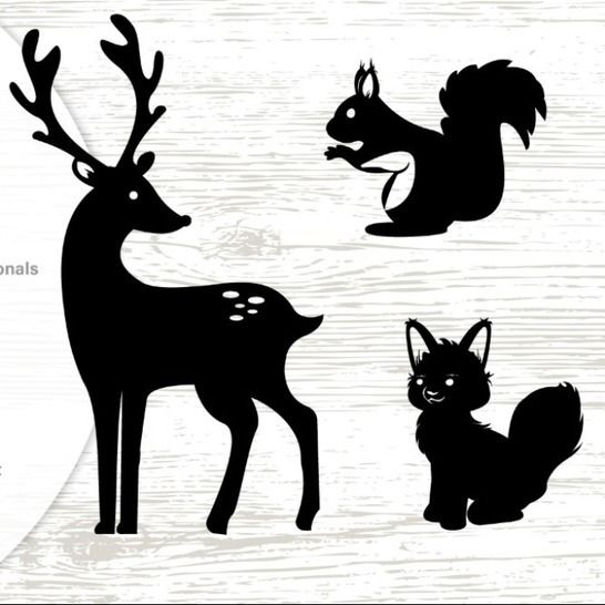 Woodland Animals - Silhouettes - Cutting File at Makerist - Image 1