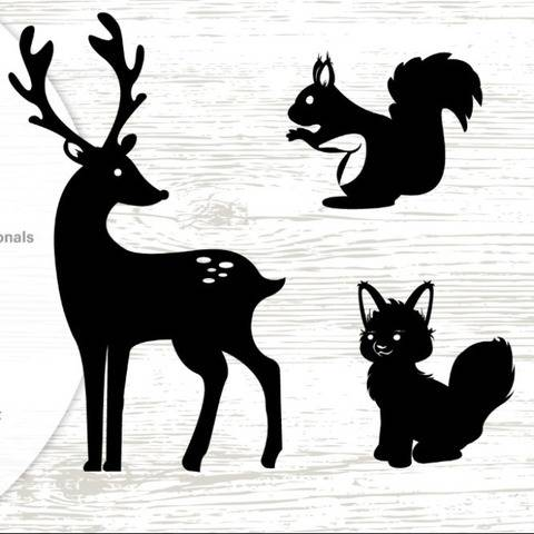 Woodland Animals - Silhouettes - Cutting File