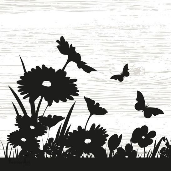 Beautiful Flower Meadow  - Wall Decal - Cutting Files at Makerist - Image 1