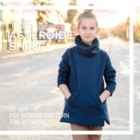 The Asteroïde Shirt PDF Sewing Pattern, Sized 2-16