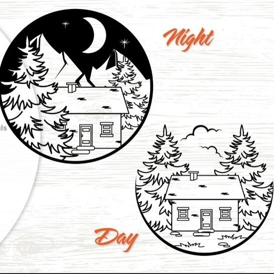 Cabin in the Mountains - Cutting File at Makerist - Image 1
