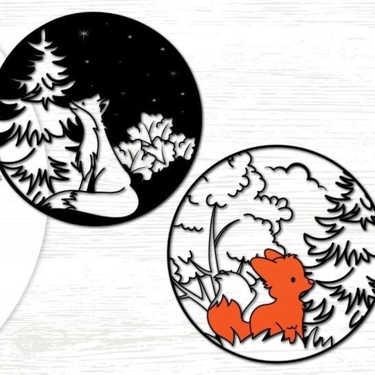 Fox in the woods - Cutting File at Makerist - Image 1