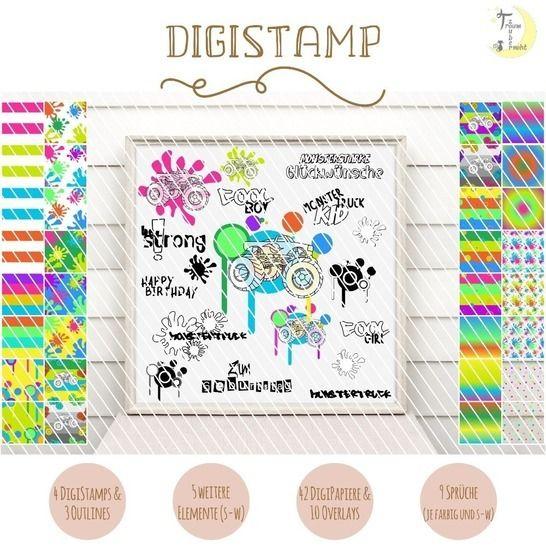 Monstertruck DigiStamp bei Makerist - Bild 1