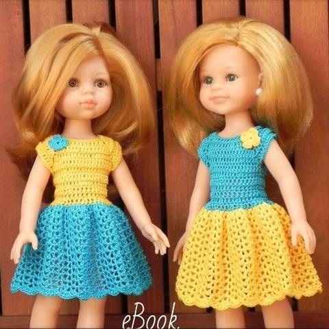 Crochet pattern for a13-inch doll dress
