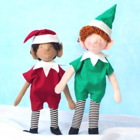 Sewing pattern and tutorial, stuffed elf doll pixie