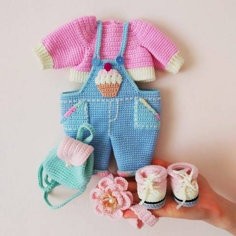 Crochet doll outfits pattern