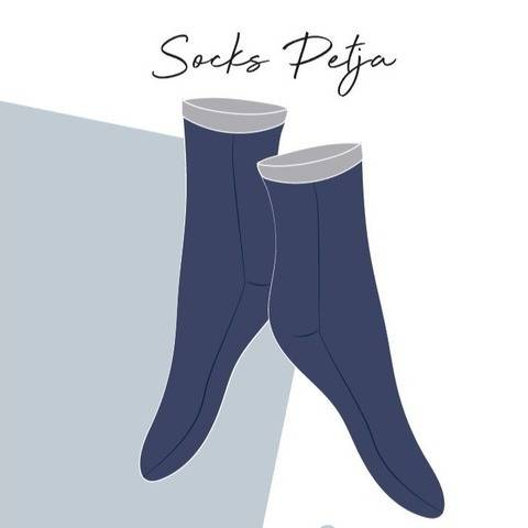 Socks Petja sewing instruction & pattern