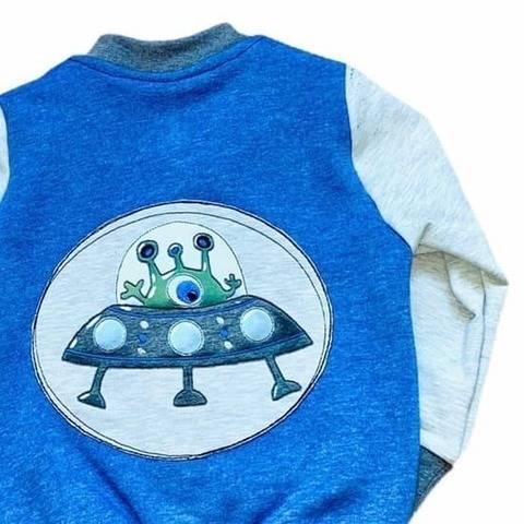 Stickdatei UFO Untertasse Doodle - Näh-Mariechen