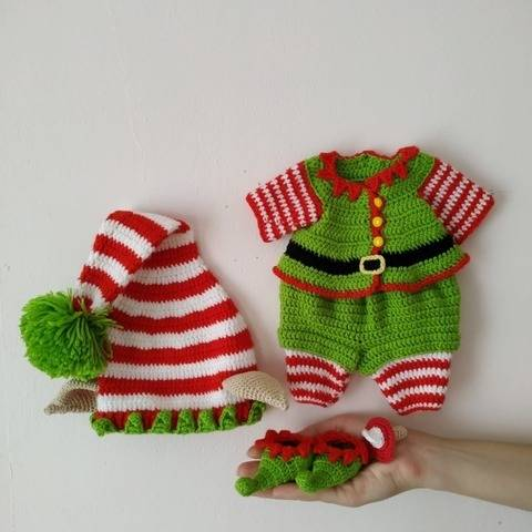 crochet Christmas Elf clothes pattern