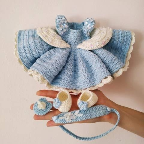 Princess Cinderella set crochet pattern