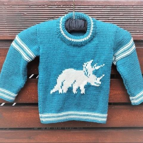 Triceratops on a Sweater