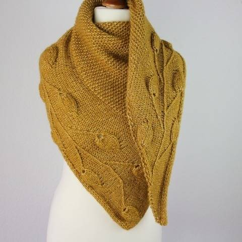"Knitting pattern sahwl ""Golden Leaves"""