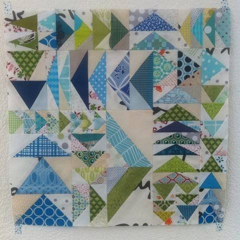 Flying Geese Mini Quilt Anleitung - Paper Piecing