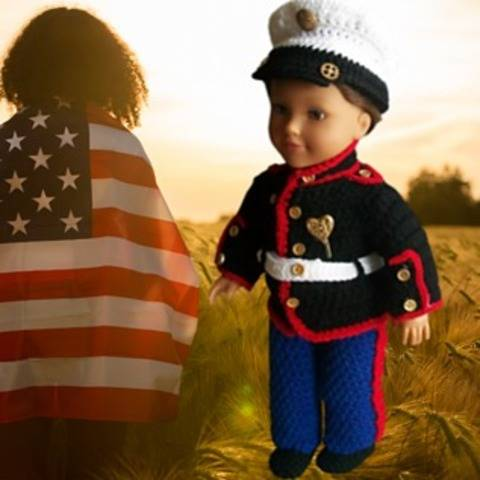 Doll clothes, military costume