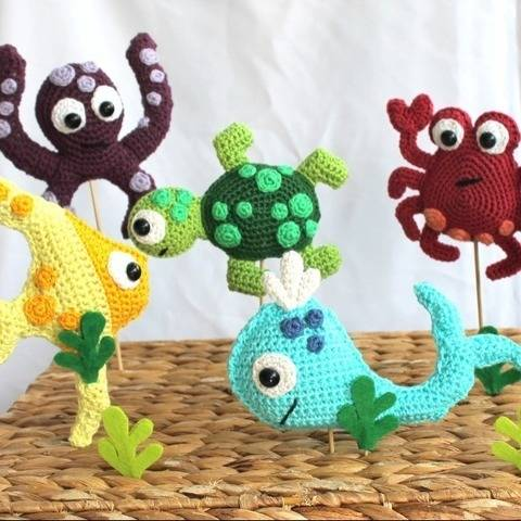fish and Co. nursery mobile crochet pattern at Makerist