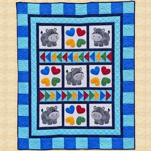Happy Hippo Hop Quilt Pattern