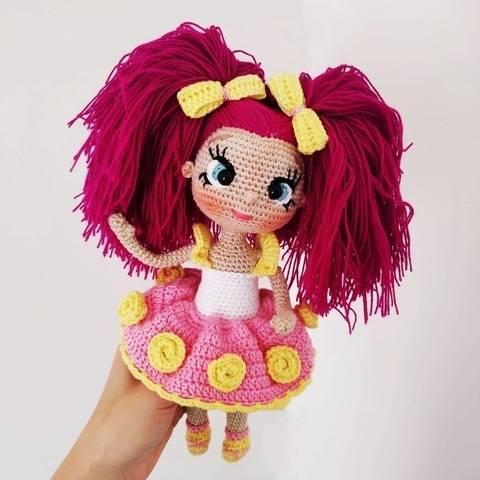 Crochet baby doll pattern 9,84 inch (25 cm)