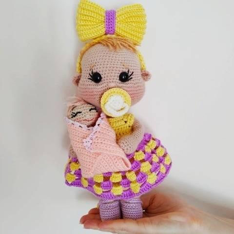 Amigurumi baby doll pattern 25 cm (9,84″)