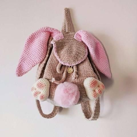 Crochet Bunny backpack pattern