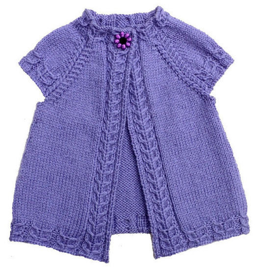 Cardigan enfant Violette 2-14a - explications tricot chez Makerist - Image 1