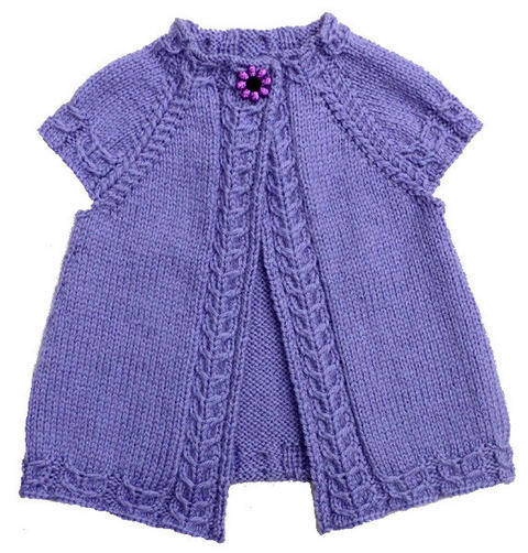 Cardigan enfant Violette 2-14a - explications tricot chez Makerist