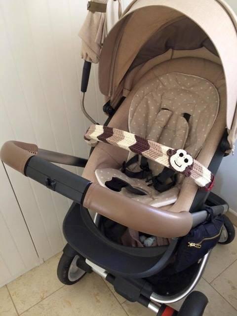 Strickanleitung Bügelschoner für den Kinderwagen