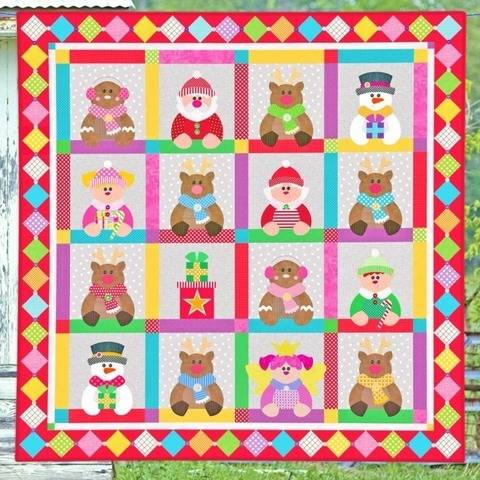 Candy Cane Christmas Quilt Pattern at Makerist