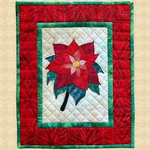 Poinsettia Quilted Wall Hanging Pattern