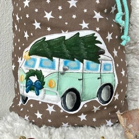 Applikationsvorlage Weihnachtsbus