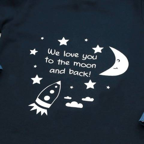 """Plotter-Datei """"We love you to the moon and back"""""""