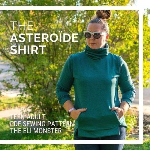 The Teen/Adult Asteroïde Shirt PDF Sewing Pattern