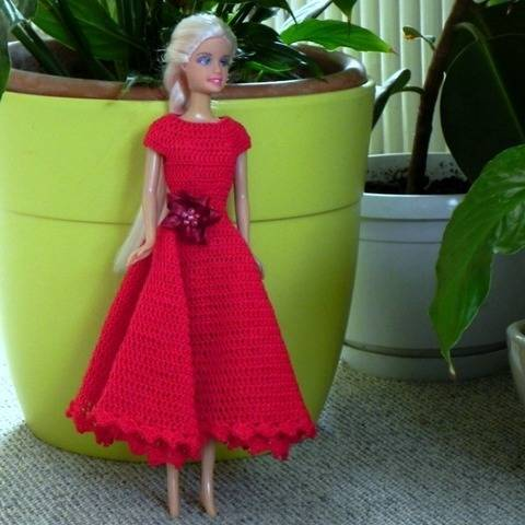 12 inch doll romatic dress crochet pattern
