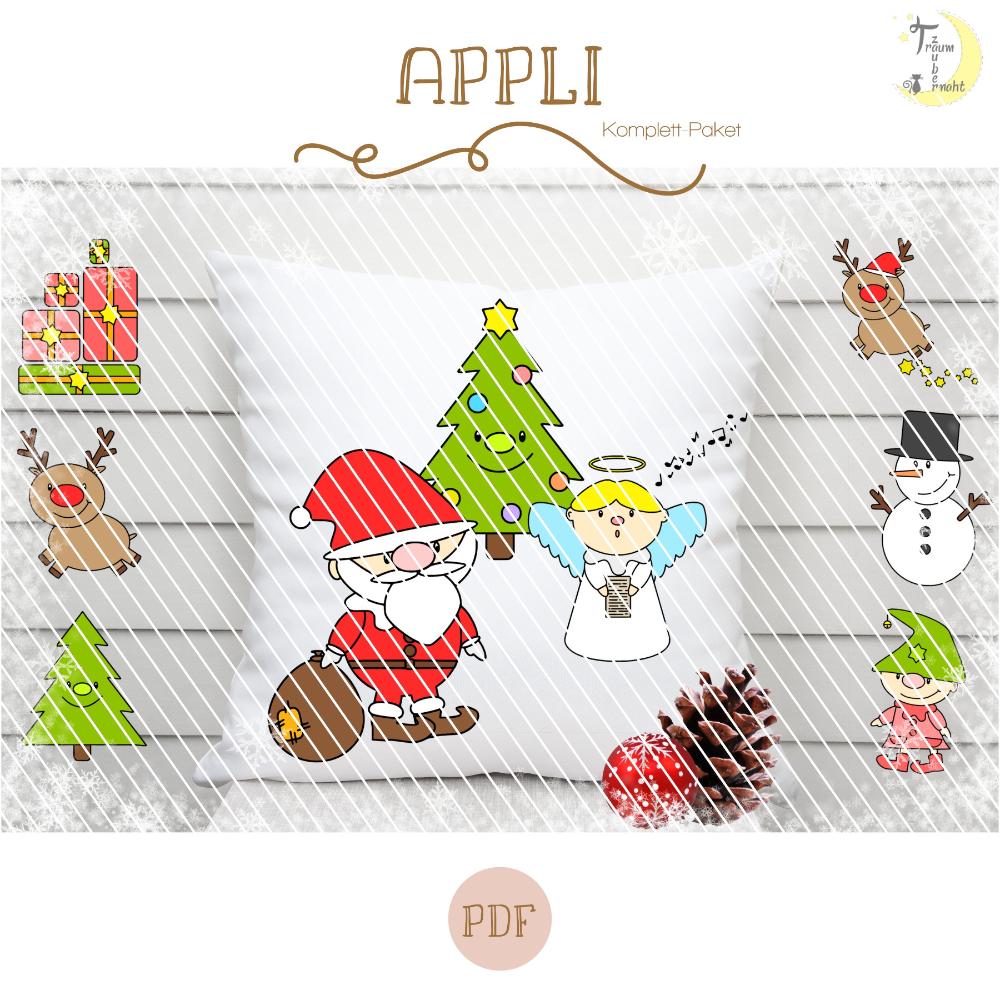Christmas Buddies Applikationsvorlage Komplettpaket
