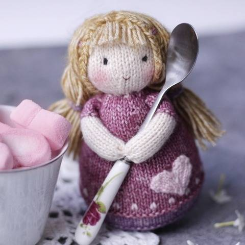 Doll knitting pattern - Knitted doll Lucy
