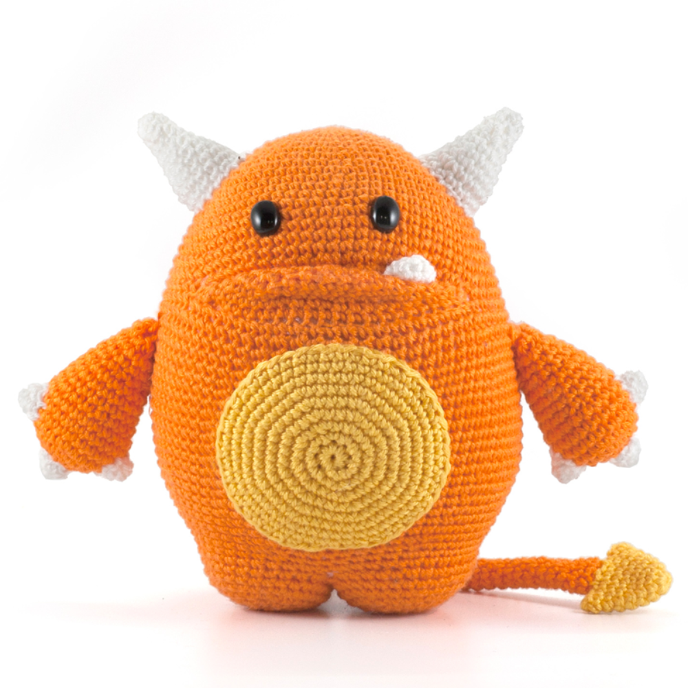 Mr. Orange le monstre - amigurumi au crochet