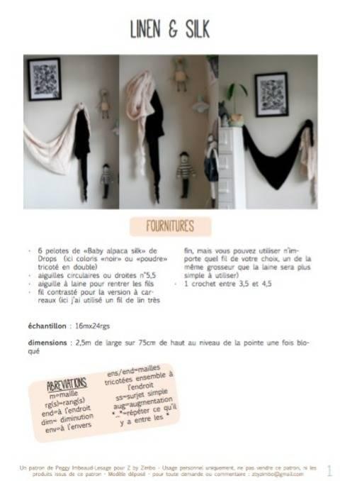 Linen & silk - châles
