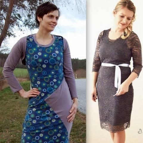Kombi- Ebook Kleid und Kurzjacke DIAMOND Gr. XS - XXL bei Makerist