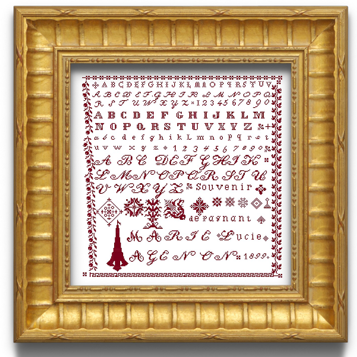 Marie Agenon 1899 - Cross stitch pattern