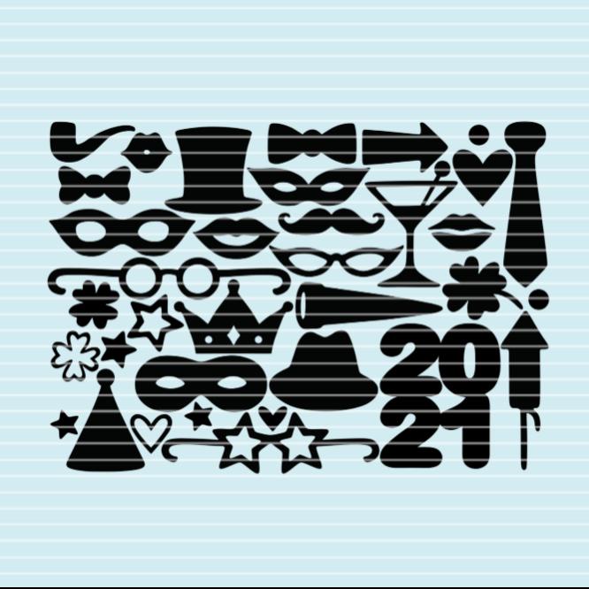 Party-Deko SVG DXF Plotterdatei