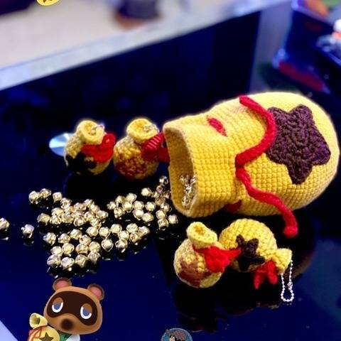 2 Crochet Pattern - Amigurumi Bell Bag Animal Crossing