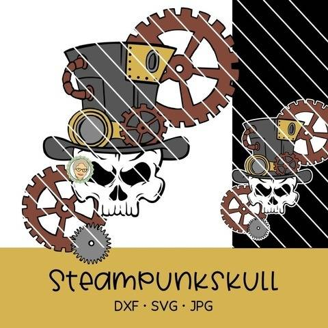 Cutting file steampunk skull