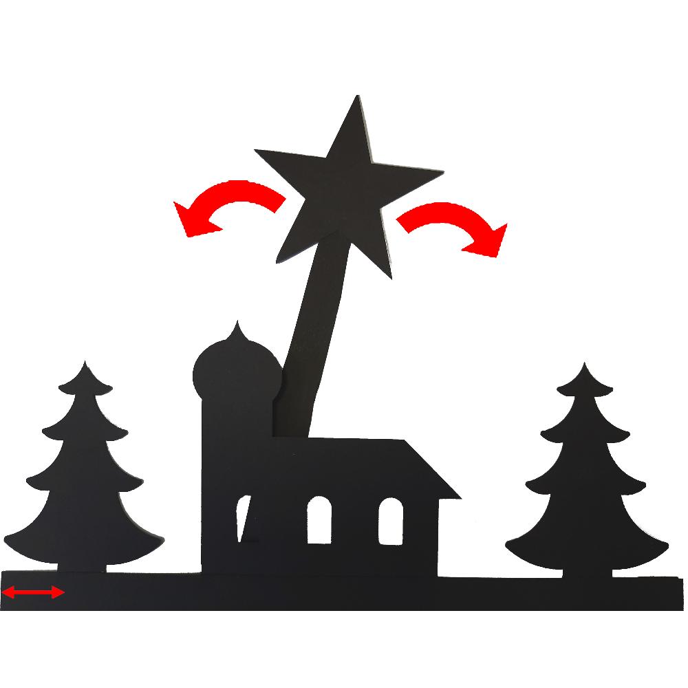 Wandernder Stern - Bastelbogen mit detailiierter Anleitung