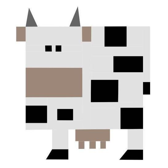 Patchwork Paper Piecing Block - Kuh bei Makerist - Bild 1