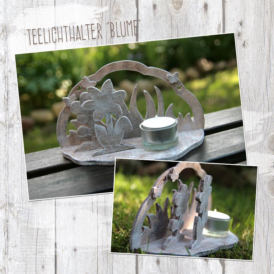 """Teelichthalter """"Blume"""" - Bastelanleitung"""